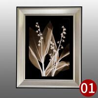 沙发背景墙装饰画有框画现代挂画创意壁画花卉卧室客厅墙画三联画
