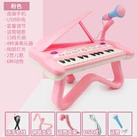 宝宝小钢琴儿童电子琴玩具琴初学男孩女孩1-3岁0婴幼儿可弹奏 15键电子琴粉色[USB双供电+话筒]