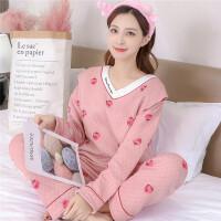 秋冬季加厚空气棉月子服保暖孕妇睡衣夹层产后哺乳保暖喂奶衣