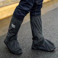 【好货】高筒防雨鞋套加厚耐磨底男女摩托车徒步骑行防水雨天雨靴套户外便携式脚套