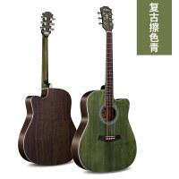 单板民谣木吉他初学者男女学生41寸练习民谣