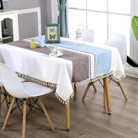 北欧餐桌布台布棉麻小清新茶几桌布布艺长方形台布长方形家用客厅