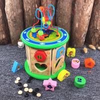 婴幼儿童早教积木1-2-3岁男宝宝女孩几何形状配对启蒙益智力玩具 幼得乐 十二生肖 配对绕珠