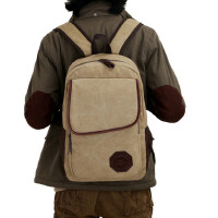 男士双肩包时尚潮流帆布包休闲包背包旅行包大学生初中学生书包