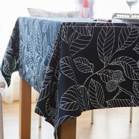 桌布餐椅垫套装 欧式台布 桌树叶印花定制