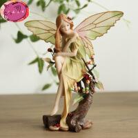 欧式田园创意家居装饰品摆件 婚庆工艺品 情人节礼物 花仙子森林天使