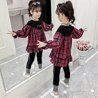 2019秋季新款时髦洋气两件套运动卫衣儿童女童套装