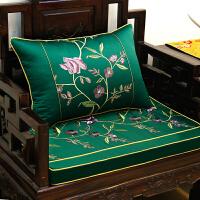 中式古典红木沙发垫罗汉床坐垫子五件套实木家具圈椅垫靠垫套定做
