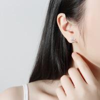 耳夹无耳洞 女S925银韩式简清新气质 时尚潮人无耳洞耳环耳饰 雪花耳夹