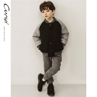 童装男童冬装外套棒球服儿童保暖棉衣中大童夹克