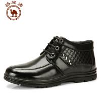 骆驼牌 新款 男靴子 日常休闲男鞋系带保暖流行男鞋子