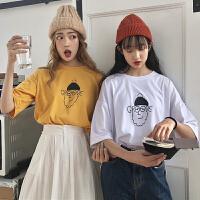三木子快时尚女装~春夏新款印花短袖T恤韩版学生百搭上衣