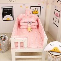 婴童床品套件婴儿床围可拆洗秋冬儿童宝宝床围防撞拼接床上用品床品套件ZQ-YS009 粉色萌小兔 图上九件套 可拆分买