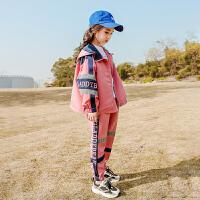 洋气女童运动套装秋装时尚儿童中大童女孩春秋两件套