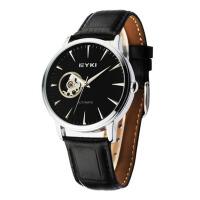 艾奇(EYKI)2018年新款全自动机械表 镂空透底休闲商务皮带表 男士手表 8528
