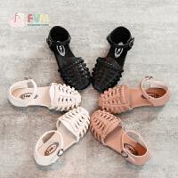 2019夏季新款韩版小孩公主中大童女孩软底鞋时尚罗马鞋女童凉鞋