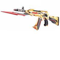 穿越火线剑齿虎CF*电动连发下供晶珠弹可发射儿童玩具枪水晶弹