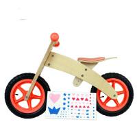 儿童平衡车木制滑行学步车德国小木车童车非金属zf04 DIY原木山地车