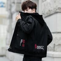 男士外套新款青少流韩版加绒夹克男生冬季春秋季外衣