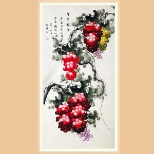 山东美协会员,中国书画家协会会员 孙艺群(佳果飘香)ZH436