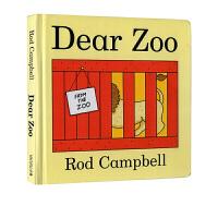 进口英文原版绘本 Dear Zoo 亲爱的动物园 翻翻书0 3岁 国外经典 儿童纸板书 吴敏兰书英文书单读物 常青藤爸