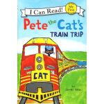 英文原版儿童书 I can read 1:Pete the Cat's Train Trip 分级读物 3 6岁国外经