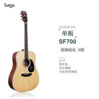 新款f700c面单板民谣木吉他初学者学生女男入门41寸自学电箱模型 SF700 圆角原木色 41寸