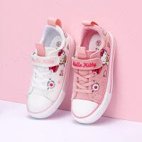 【1件3折:89.7元】HelloKitty�P蒂�童鞋女童帆布鞋秋季新款�和�鞋中小童布鞋K0517863