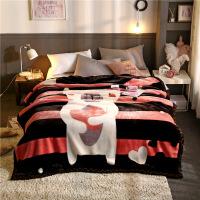 毛毯加厚双层冬季保暖单人双人学生宿舍珊瑚绒婚庆盖毯被子定制