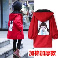 女童秋冬装外套中长款加厚两面穿风衣外套韩版中大童小女孩3-15岁 加厚
