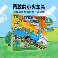 欧美宝宝必读绘本 The Little Engine That Could 勇敢的小火车头 纸板书 故事中传达了自信、
