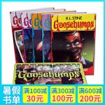 英文原版 鸡皮疙瘩5册限量版Goosebumps Limited Edition铁盒套装 R.L.斯坦 课外小说兴趣阅
