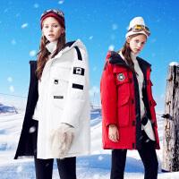 【1件3折到手价:381元】高梵2018冬季新款韩版时尚加厚羽绒服女工装中长款
