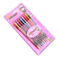 奥博GP-22闪光笔8色 8支装 卡装闪光笔 标记笔 彩色笔 闪光中性笔