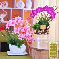蝴蝶兰盆景假花客厅摆设装饰卧室内仿真绿植餐桌摆件大盆栽干花束