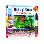 新版 Bizzy Bear Train Driver小熊很忙系列 忙碌的火车司机 英文原版 低幼儿童机关玩具纸板书操作