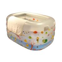 婴儿游泳池浴缸 耐寒新生婴儿游泳池充气保温婴幼儿童宝宝家用室内洗澡桶浴缸