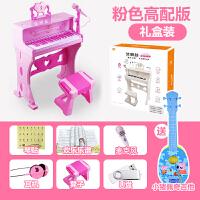 儿童电子琴带麦克风钢琴宝宝女男孩玩具1-3-6-8岁音乐圣诞节礼物