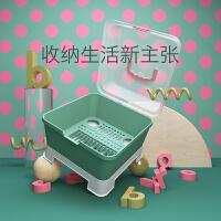 babycare奶瓶收纳箱 婴儿餐具收纳盒 宝宝奶瓶沥水架 带盖防尘箱