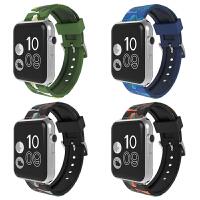 适用apple watch4表带iwatch4/3/2/1硅胶运动耐克表带苹果手表表带42/38m