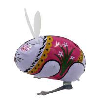 发条玩具 80后经典怀旧铁皮青蛙兔子公鸡老鼠玩具儿童上链发条会蹦跳跑