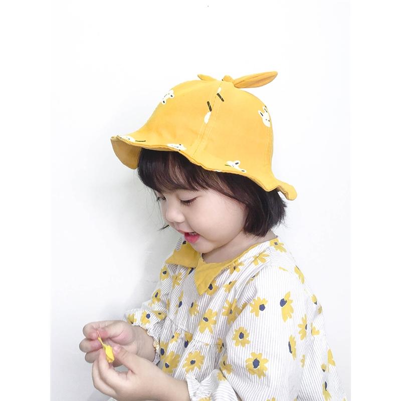 2-4岁儿童帽子儿童渔夫帽春夏休闲女孩男童遮阳帽宝宝帽子