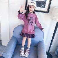 2019新款韩版洋气儿童春秋季宽松上衣时髦中长款女童秋装卫衣