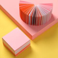 得力便签纸白纸400张彩色空白便条纸办公大号学生用小本子无粘性创意不粘便利贴粘性强可撕本
