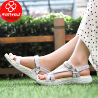 Skechers/斯凯奇女鞋新款休闲运动沙滩鞋舒适轻便魔术贴凉鞋15319-GYYL
