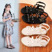 2019夏季新款韩版时尚女童凉鞋儿童女孩沙滩鞋子公主软底凉鞋