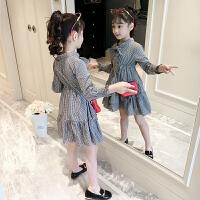 2019新款春装儿童洋气公主裙小女孩春秋格子裙子童装女童连衣裙