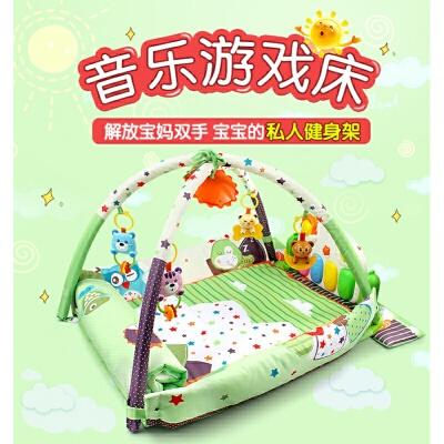 婴儿健身架3-6-12个月男孩女孩音乐游戏毯玩具宝宝脚踏钢琴0-1岁