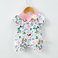 宝宝外出服男女宝宝短爬爬服哈衣潮服婴儿新款夏装薄款连体衣