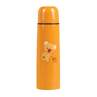 喜多不锈钢真空保温壶婴儿调奶水壶 24小时保温杯宝宝外出500ml 橘色